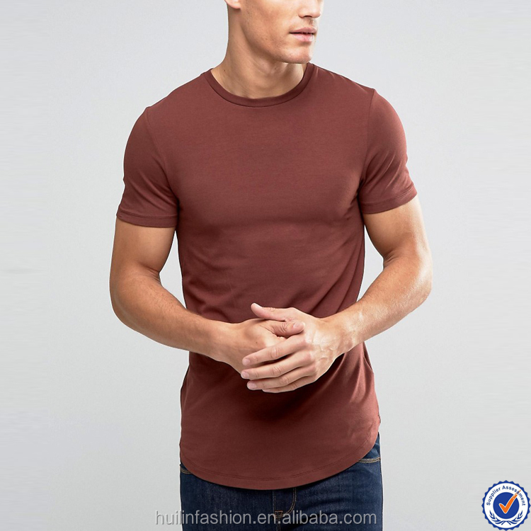 crew neck mens t shirt wholesale china short sleeve scoop hem muscle plain t-shirts