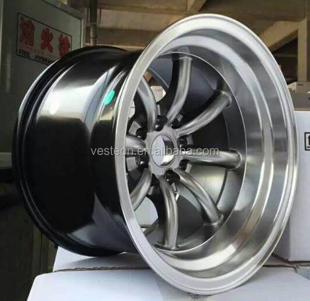 Small size deep dish alloy wheel for car
