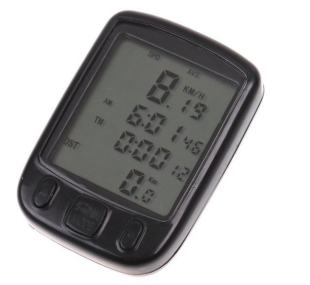 5PCS/lot Hot Sale Waterproof big LCD Cycling Bike Bicycle Computer Odometer Speedometer with 24 Functions, Free Shipping