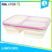 China market latest design silicone lunch box keep food warm