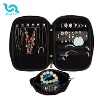 Hot Sale Travel Jewelry Storage Carrying Case Jewelry Organizer With Removable Pouch