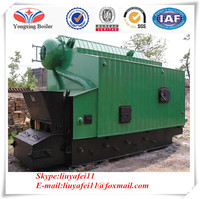 With one drum ignition coal steam boiler / fuel rice husk steam boiler