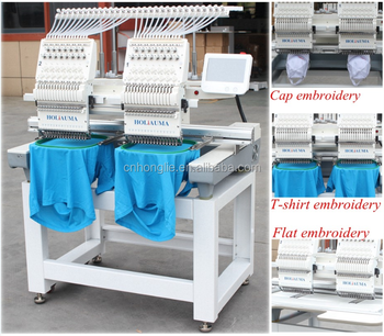 Multi fuction computerized double head sewing embroidery machines china factory directly sale embroidery machine