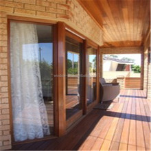 New design double glazed wood grain door aluminium sliding door living room sliding door profile
