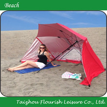 7 Ft Beach Umbrella with Integrated colorful Sand Anchor beach umbrella tent and Carry Bag