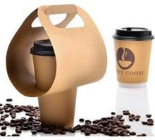 1 pack and 2 pack drink or coffee paper cup carrier take away packaging