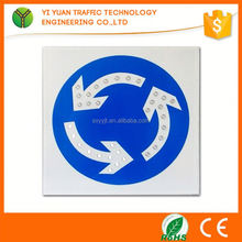 Road driving directions reflective flashing solar led beware of dog sign