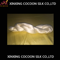 Mulberry raw silk 100% pure silk filament yarn wholesale price for home textile / silk products