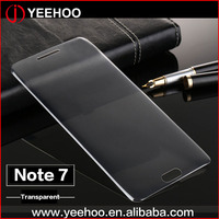 3d curved full transparent tempered glass screen guard for samsung galaxy note 7