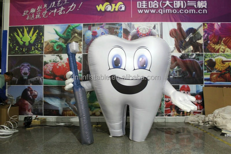 customized new style giant cheap inflatable tooth balloon for advertising