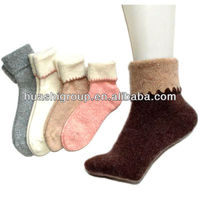 women angora/wool winter terry socks women socks