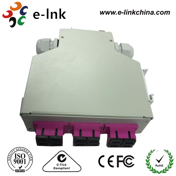 Connec optical cables DIN Rail Fiber optic terminal box