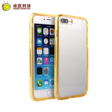 High quality soft tpu pc phone case for iphone 7 case gold luxury Hard armor protective gold case for iphone 7 heavy duty rugged