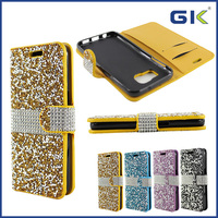 [GGIT] Luxury Case PU+TPU Holster With Diamond For Samsung Galaxy S6 Phone Case