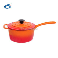 2016Hot sales Enamel Cast iron covered sauce pan