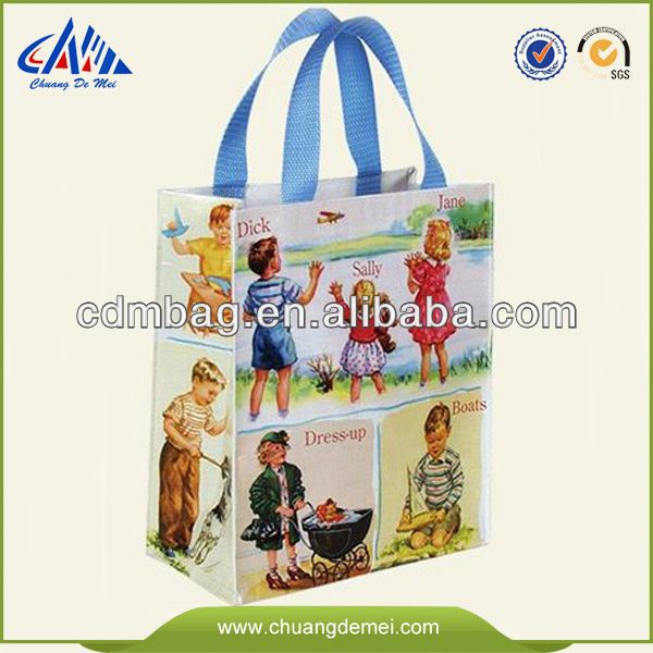 European Standard eco fashion foldable and reusable custom color printed PP non woven shopping and packaging gift tote bag
