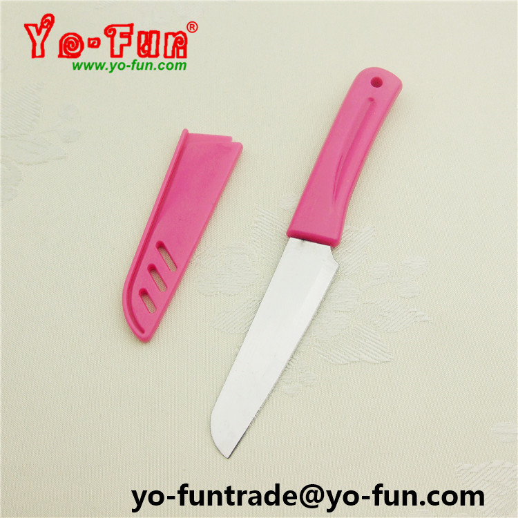 GJH143 pink plastic handle cheap stainless steel boning knife