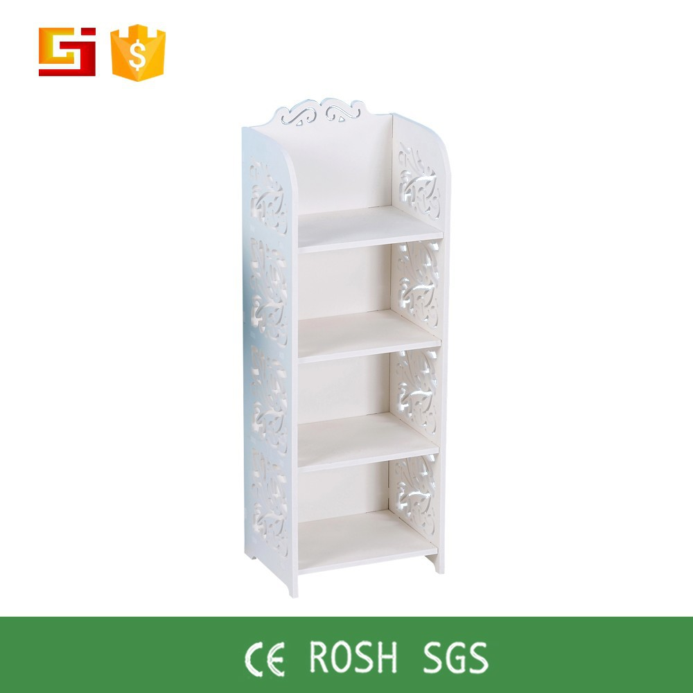 GJ-EDY8030 Cheap wooden bookcase,white wood cube bookcase shelf