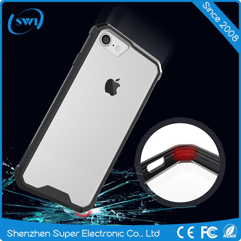 In Stock Hottest Selling Heavy Duty Air Hybrid Case Crystal Back Cover Acrylic TPU Case for iphone 7 7 plus