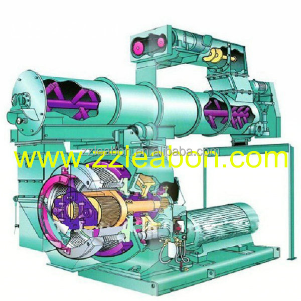 LEABON CE Chicken, Rabbit, Cow Animal Feed Milling Machine Power Feed