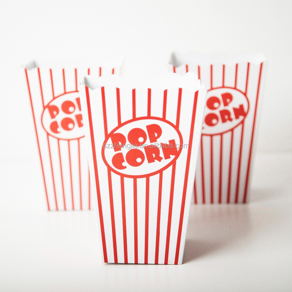FDA paper party popcorn box for popcorn packaging