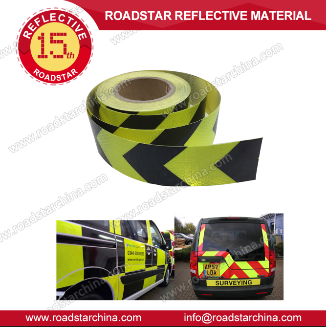Lime color,High Intensity Reflective PVC Tape Self-adhesive Roll