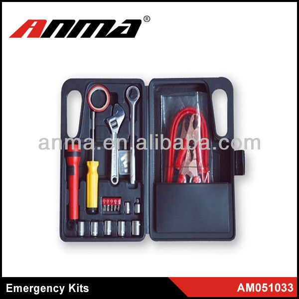 2013 car emergency tool kit with air compressor/emergency kit for car/First aid kit car emergency kit