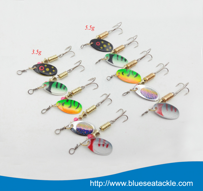 Hard Spinner bait Fishing Tackle Metal Spoon Lures