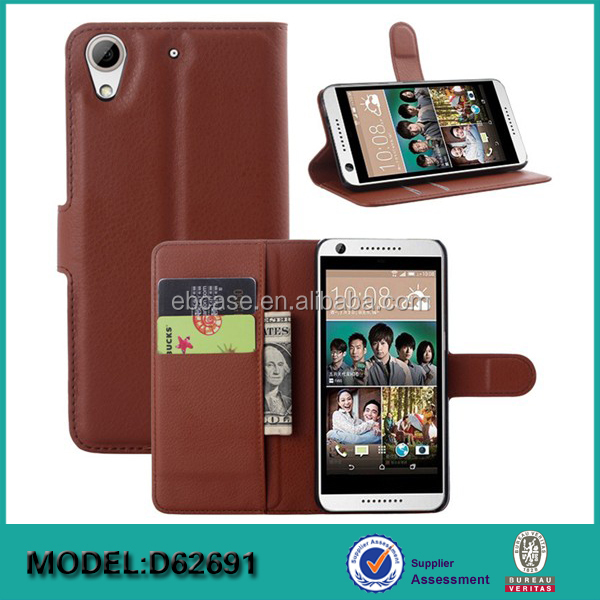 Alibaba wallet leather phone case for htc desire 626,for htc desire 626 flip leather case