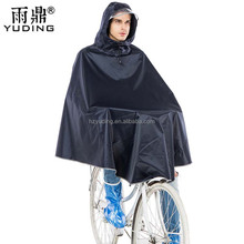 Custom high quality Rain Poncho Waterproof Polyester Bicycle thick men Raincoat with Reflective strips Adult Bicycle Rain coat