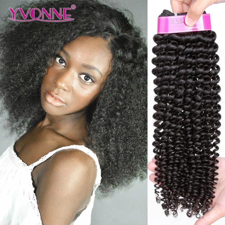 100 Brazilian Remy Virgin Human Hair Kinky Curl Human Hair Weave