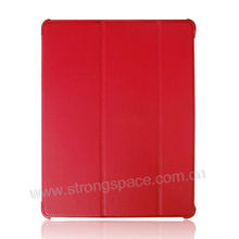Red Lychee skin PU leather smart cover for apple mini ipad