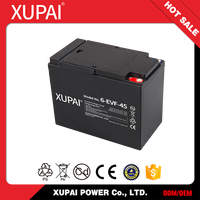 XUPAI hot sale electric vehicle rechargeable sealed 12v 45ah lead acid battery