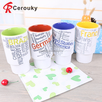 450ml telescopic design ceramic milk mug wholesale FDA passed milk mug