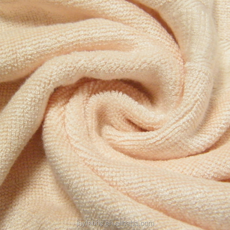 80% bamboo 20% cotton terry knitted fabric