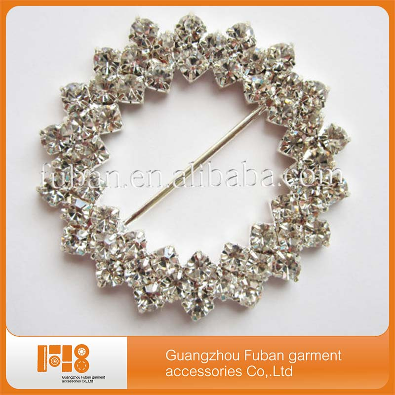 new style Crystal flower shaped rhinestone buckles