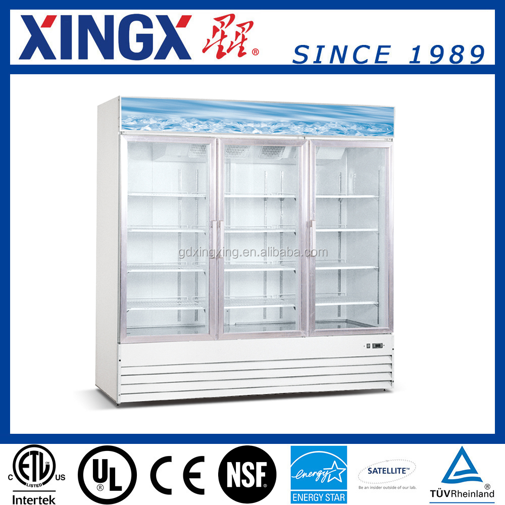 Supermarket Display Chiller, Glass Cabinets, Display Refrigerator Showcase_SD1.9L3