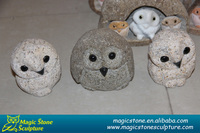 wholesale small lovely cobble stone owls
