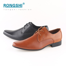 Made in china wholesale black pu synthetic leather pointed toe designer business party formal official men shoes man dress shoe