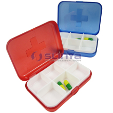 6 Day Plastic Child Resistant Pill And Medicine Boxes