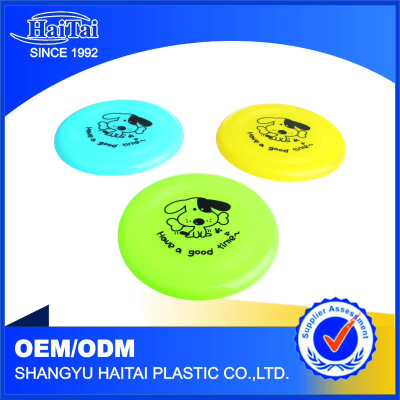 Outdoor playing toy for dog plastic round flying disc