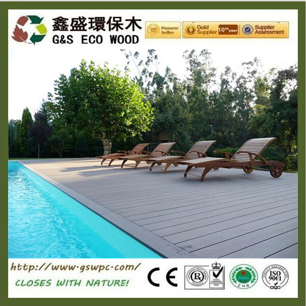 Water Resistance WPC for Outdoor Flooring anti-uv high quality wood plastic composite decking