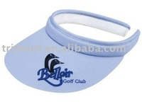 100% cotton visor with terry cloth
