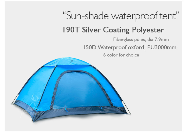 Waterproof In Outing Large Space Single-Layer Camping Tents 3-4 person