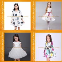 Fashion summer children frock model beautiful new model girl dress fancy baby cotton frocks designs SA-131