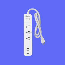 3outlet 3USB surge adaptor cETL Certified Power Strip,Pivot Power Strip Surge Protector , Premium EMI/RFI Filtering