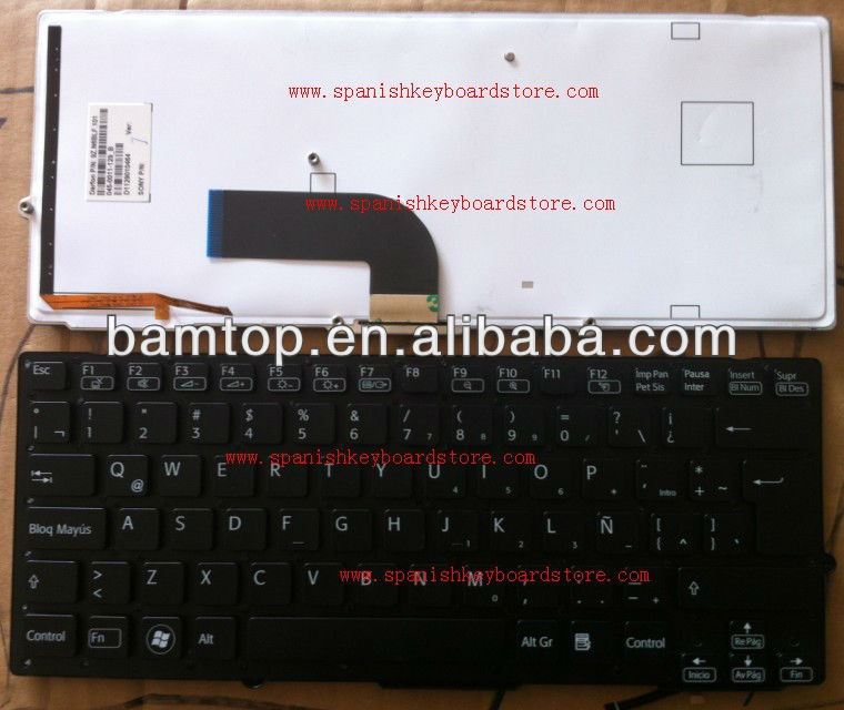 FOR SONY SD SB With backlit keyboard SPANISH SP LATN LA VERSION LAPTOP KEYBOARD