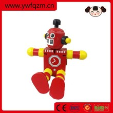 wooden transforming robot toy for small kids