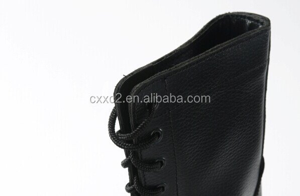 Black Leather Jungle Combat Boots from China XinXing CXB-12