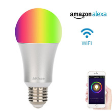 Smart LED Light Bulb ACEMAX Wifi Light E27 Bulbs 60W Equivalent Dimmable Multicolored Color No Hub Required ifttt supporting